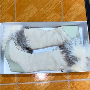 Dior heeled boots with fur size: 38 1/2